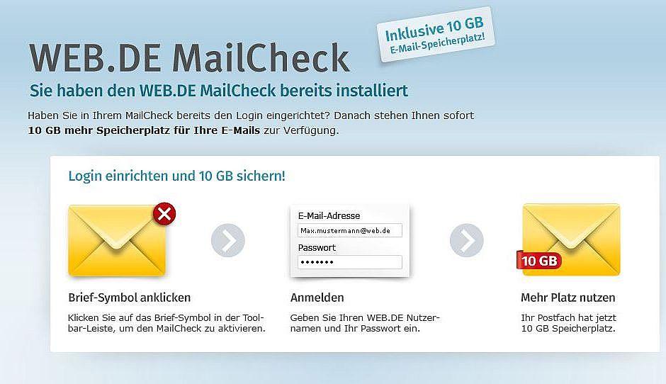 web de e mail adresse einrichten