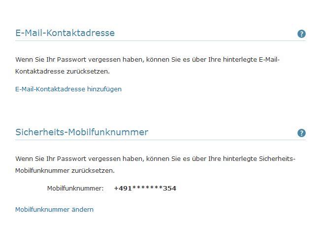 Passwort verloren
