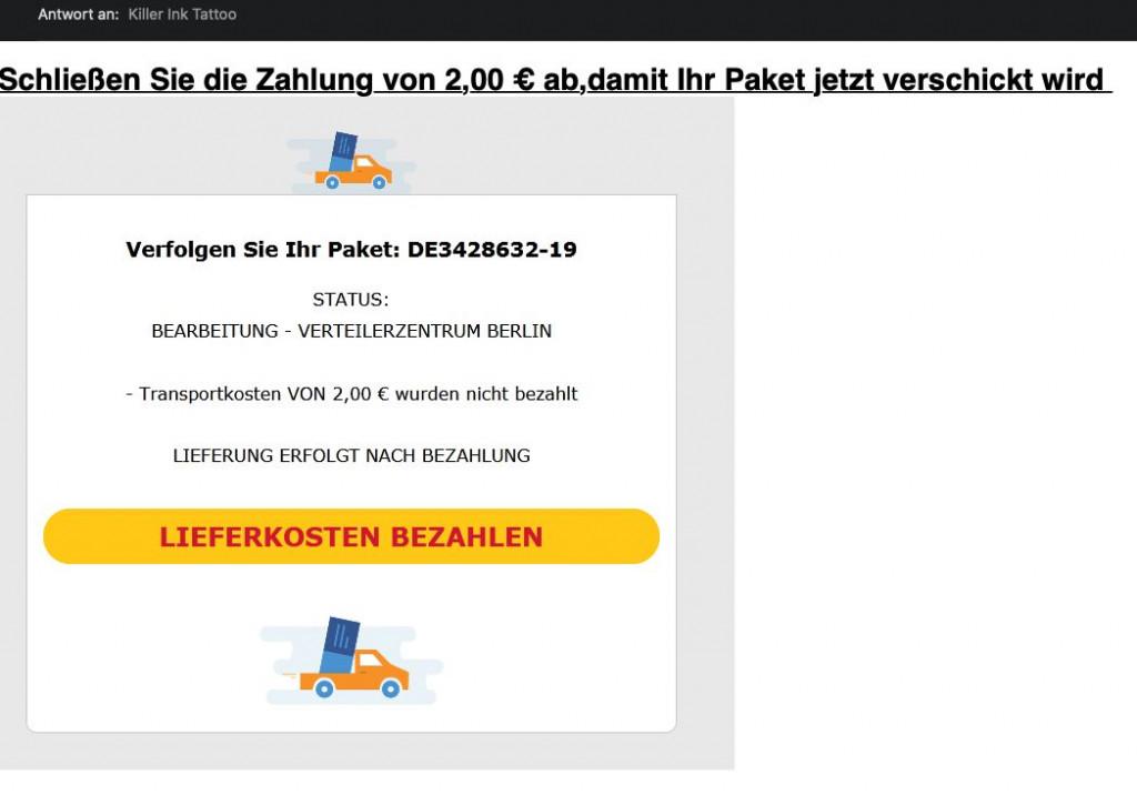 Spam-Versender setzen verstärkt auf Paket-Betrug. (c) WEB.DE