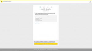 Im ersten Schritt wird die Postadresse des Nutzers überprüft. (c) WEB.DE
