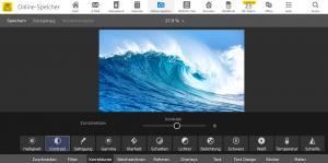 Im WEB.DE Online-Speicher am Desktop-PC lassen sich Fotos komfortabel bearbeiten. (c) WEB.DE
